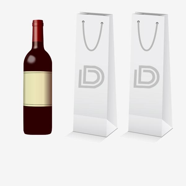 Papiertaschen Wein